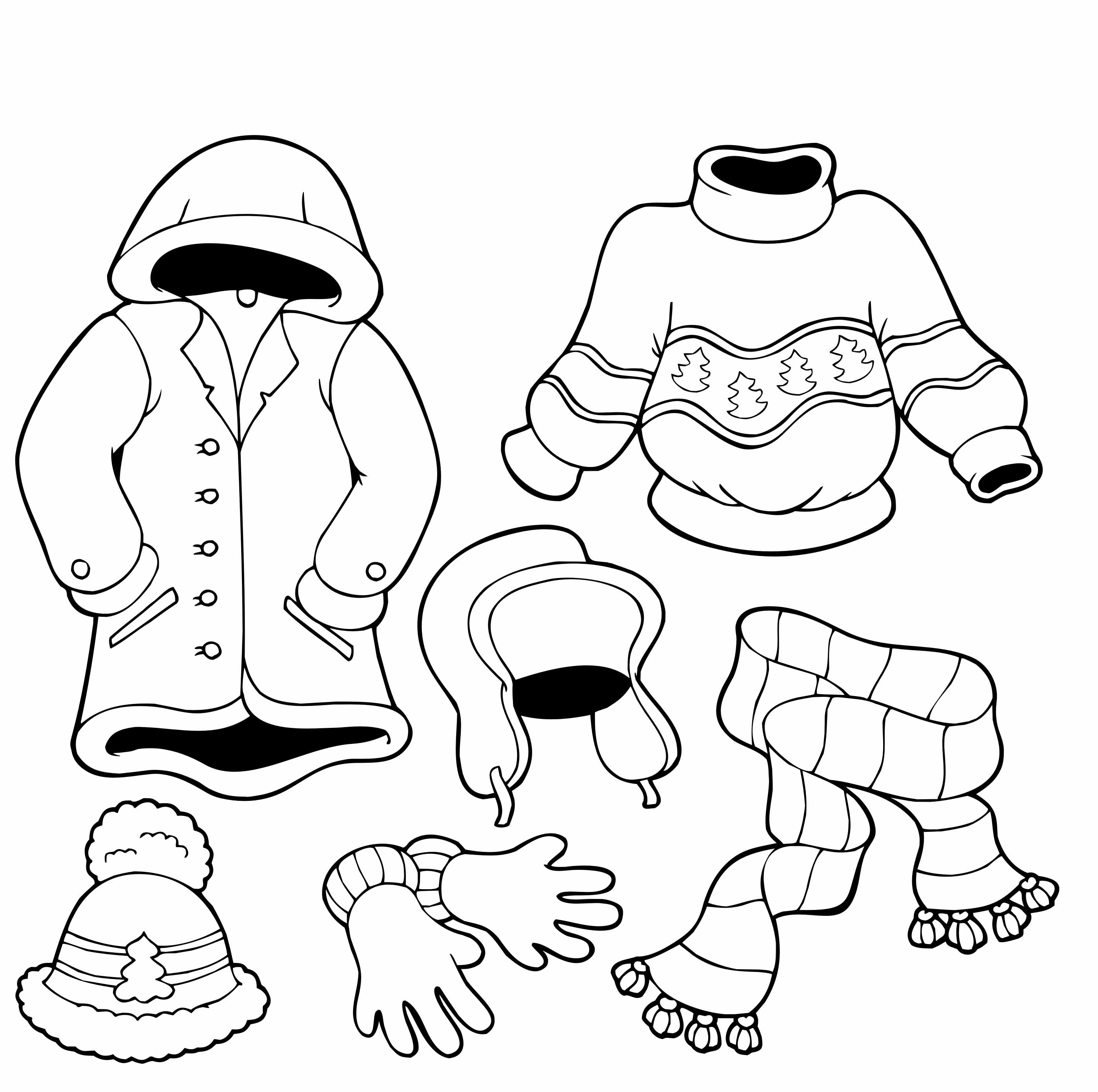 Winter clipart winter outfit The  Coloring Pages Cold
