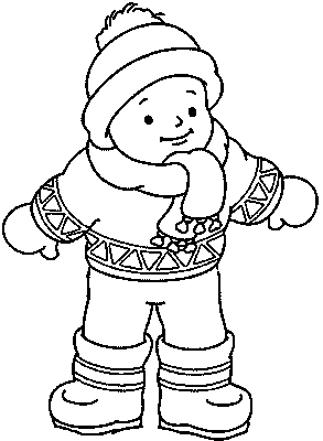 Winter clipart winter outfit Family clothes coloring pages Days