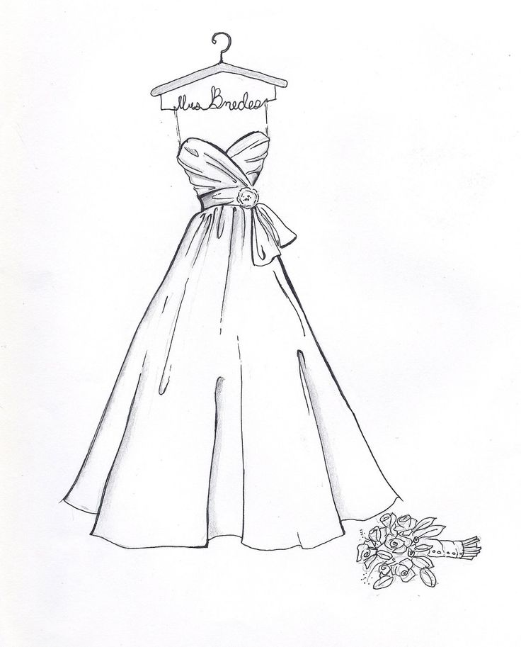 Drawn bride On Dress Dress ideas great