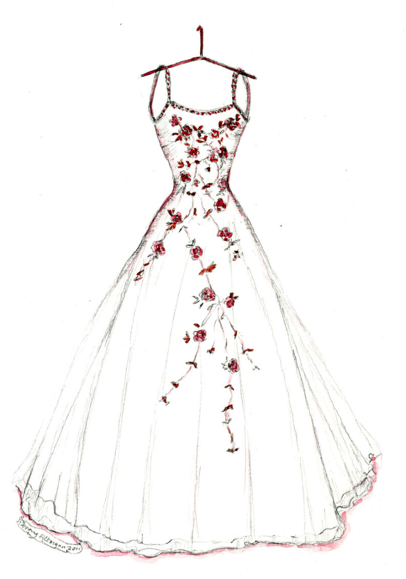 Drawn bride prom dress Kids how to more! Sketches