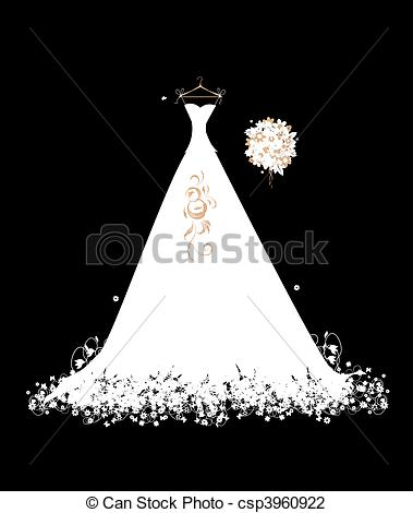 White Dress clipart hanger clipart On white on dress Wedding
