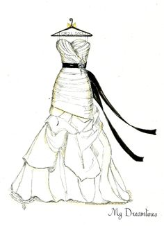 Wedding Dress clipart sketched Her clipart sketched with Clipart