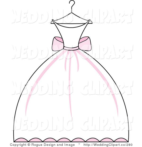 White Dress clipart hanger clipart Free Clipart Wedding Weddingclipart Clipart