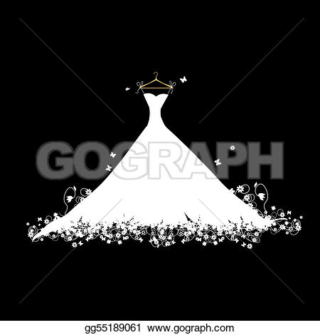 White Dress clipart hanger clipart GoGraph black Free dress white