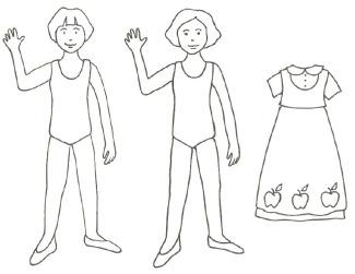 White Dress clipart printable #10