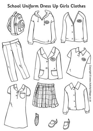 Uniform clipart boy dress up School Clothes Paper Dolls Dolls