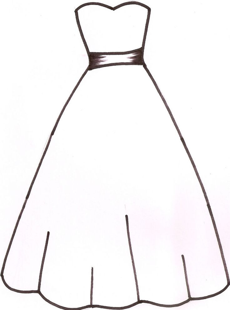 White Dress clipart silhouette Pinterest wedding art Dress dress