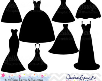 White Dress clipart silhouette For clipart Silhouette dress greeting