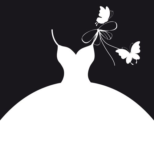 White Dress clipart silhouette On only Dress Pinterest silhouette
