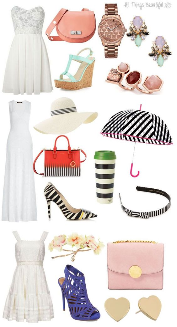 White Dress clipart spring clothes All on a Fashion Beautiful