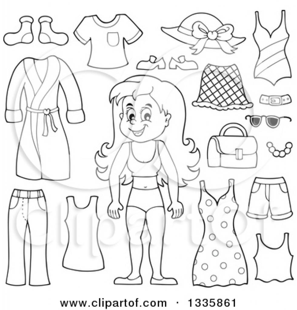 White Dress clipart summer clothes Clipart underwear summer black summer