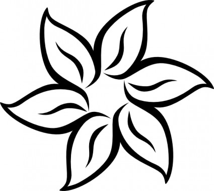 White Rose clipart flower drawing #10