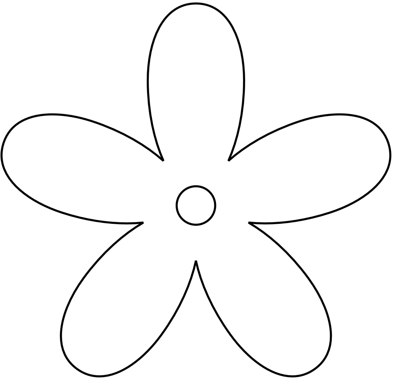 White Flower clipart Use black flower Flower white