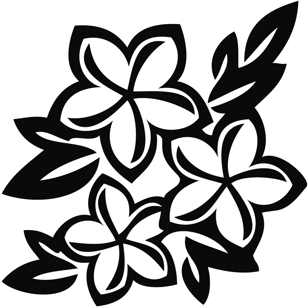 White Flower clipart Black%20and%20white%20flower%20clipart Clipart Black Images Free