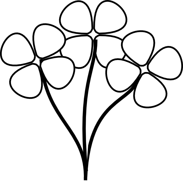 White Flower clipart Black Flower And Clipartion com