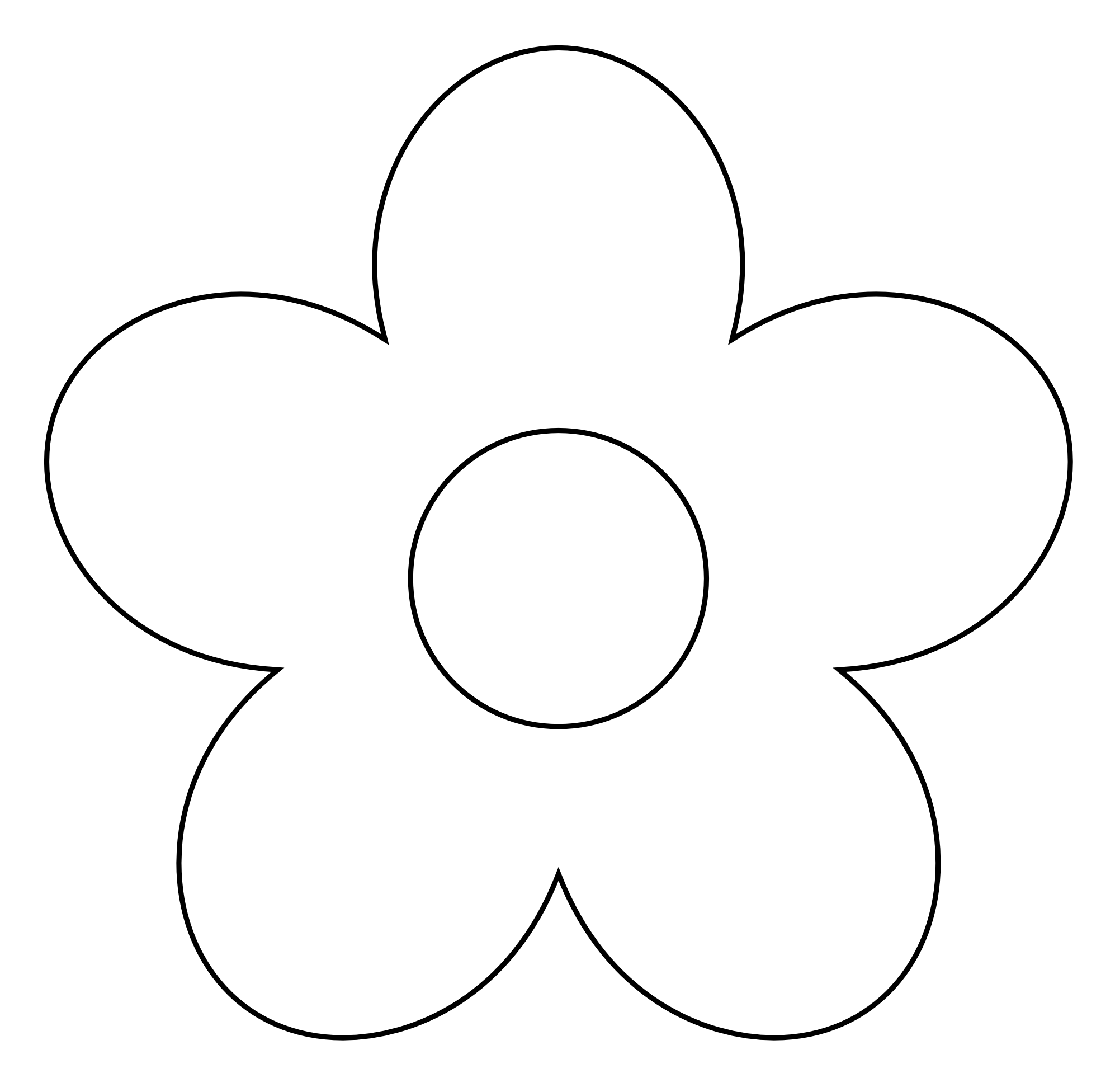 White Flower clipart Flower%20clipart%20black%20and%20white And Simple  Panda