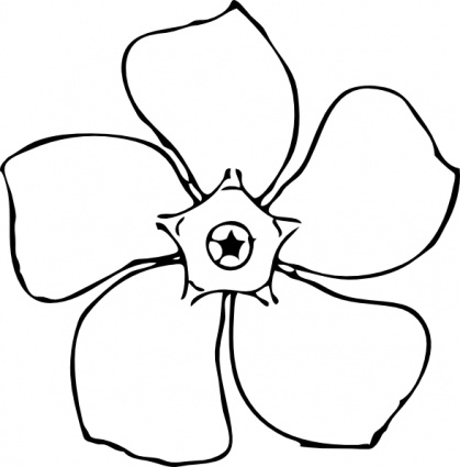 White Flower clipart Black flower and Flower black