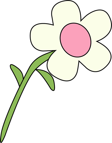 White Flower clipart Single Art White Flower Flower