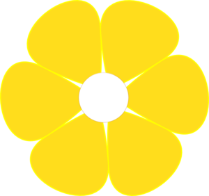 Yellow Flower clipart png format Flower middle clipart 187