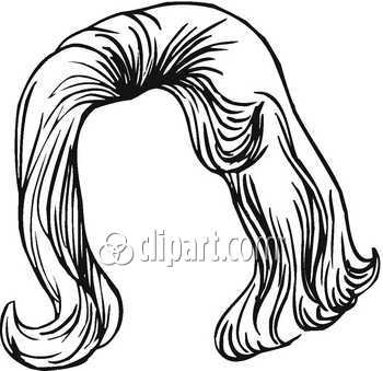 Hair clipart black and white Free Hair Clipart Panda Clipart
