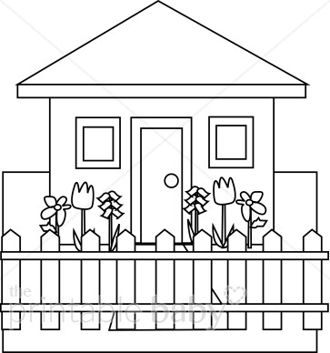 Villa clipart black and white Clipart Mommy House White Daddy
