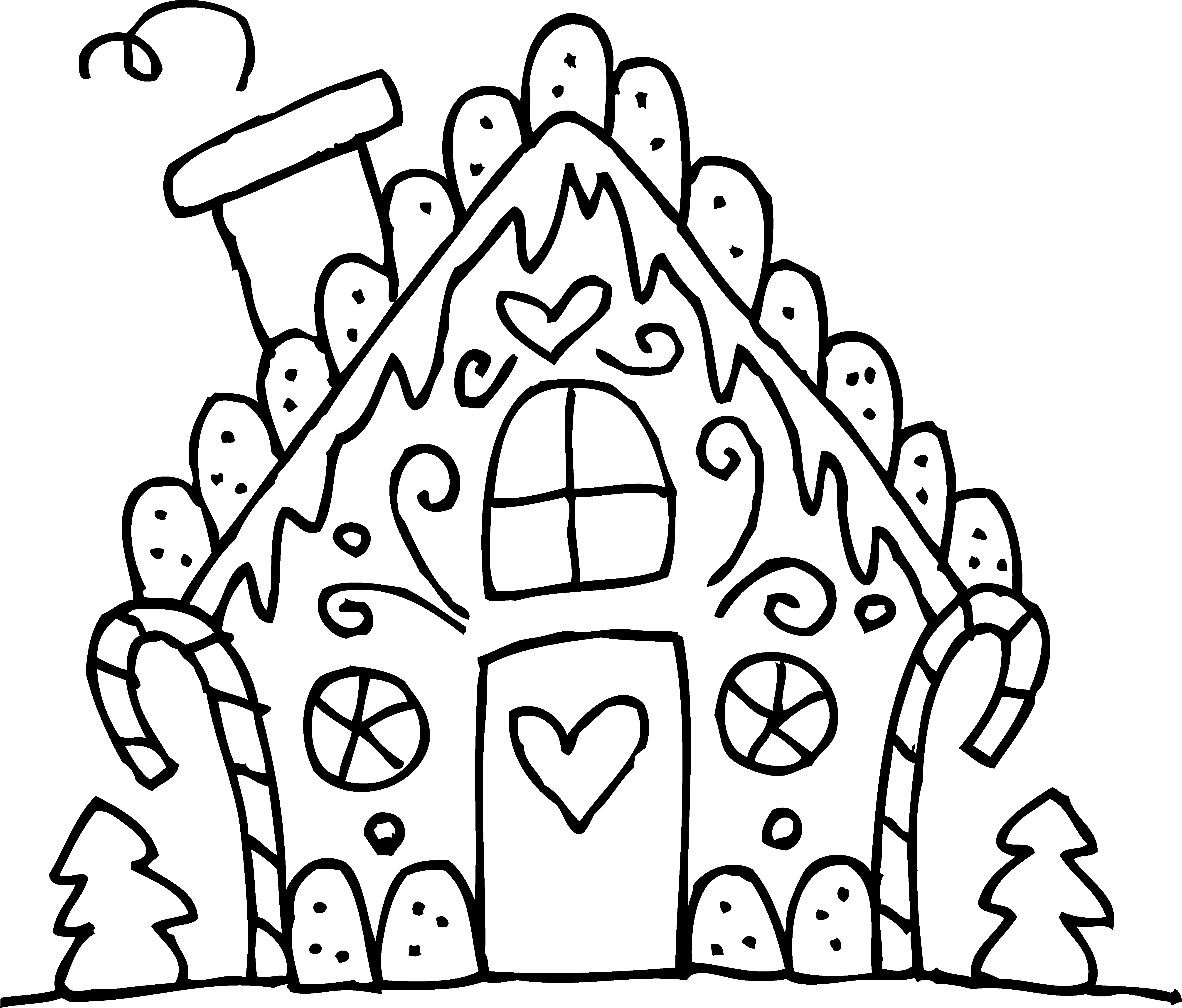 Drawn hosue black and white Gingerbread Black House White And