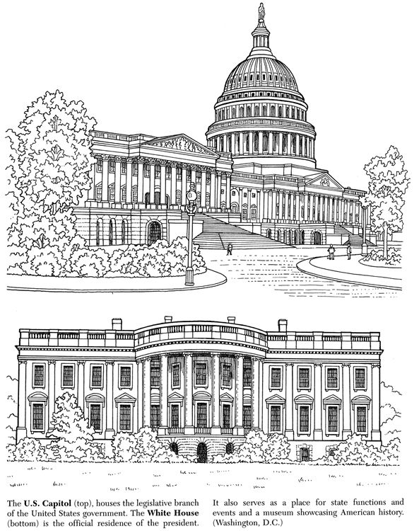 White House clipart capital House on White best &