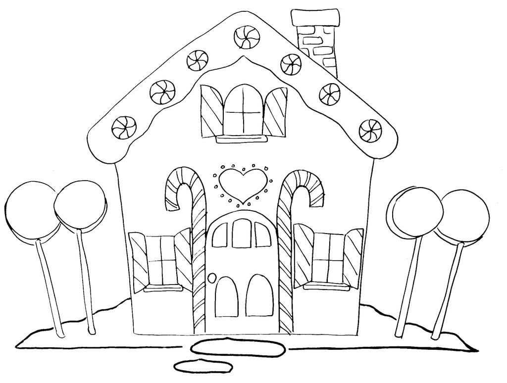 Black & White clipart gingerbread Black White  #1553 House
