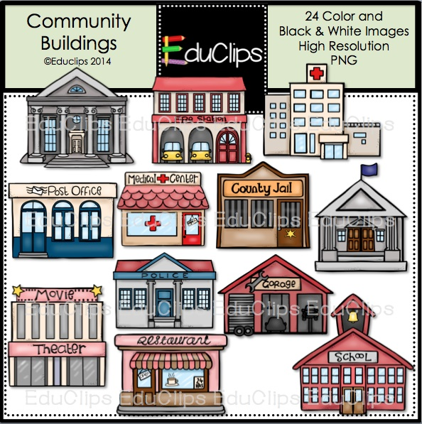 White House clipart community building #6