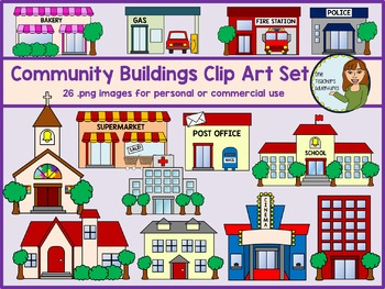 White House clipart community building #7