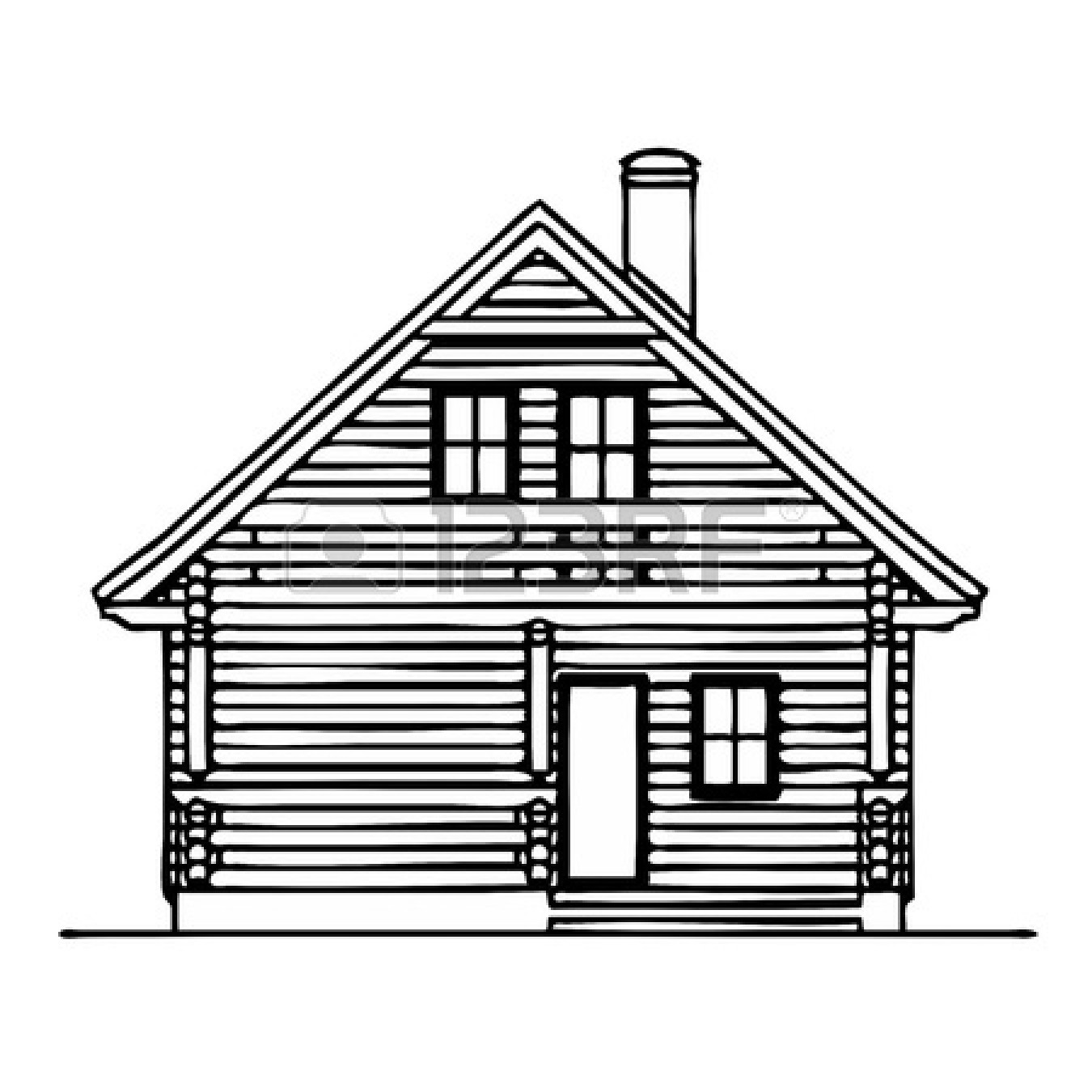 Cabin clipart old house Art Panda Clipart Cabin Log