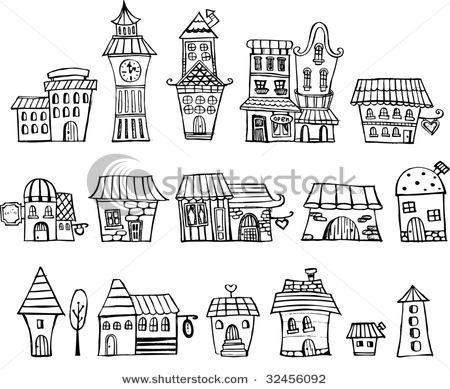 Drawn bulding  cartoon Tale ideas House vector Cartoon