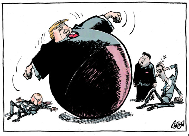 White House clipart foreign policy Caglecartoons Donald / Collignon Jos