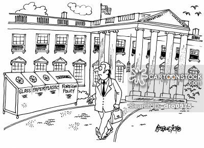 White House clipart foreign policy Re and Policy Glass/Paper/Plastic/Foreign CartoonStock