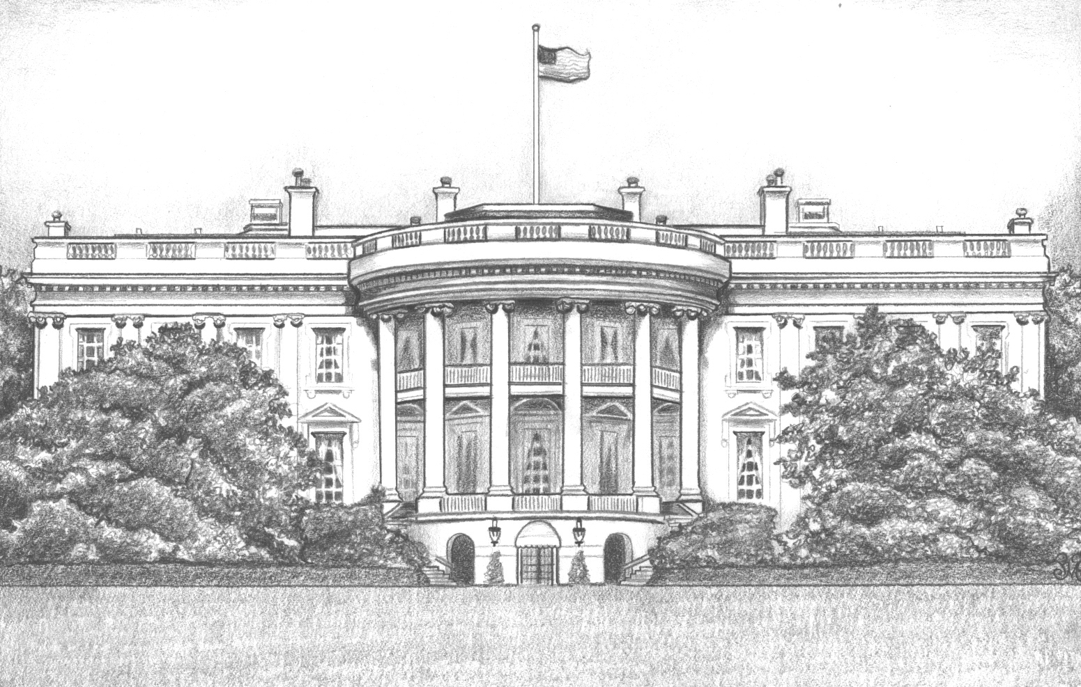 White House clipart goverment For And Clipart Drawing House