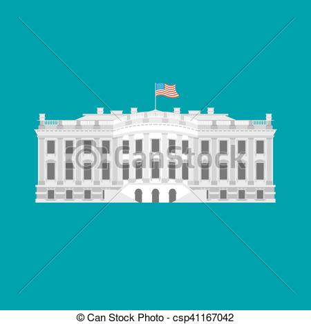 White House clipart goverment House political building of USA