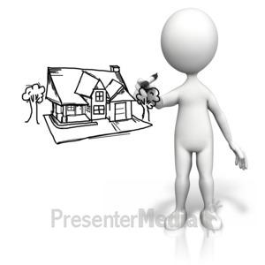 White House clipart stick house Sky Presentation 9637 ID# Figure