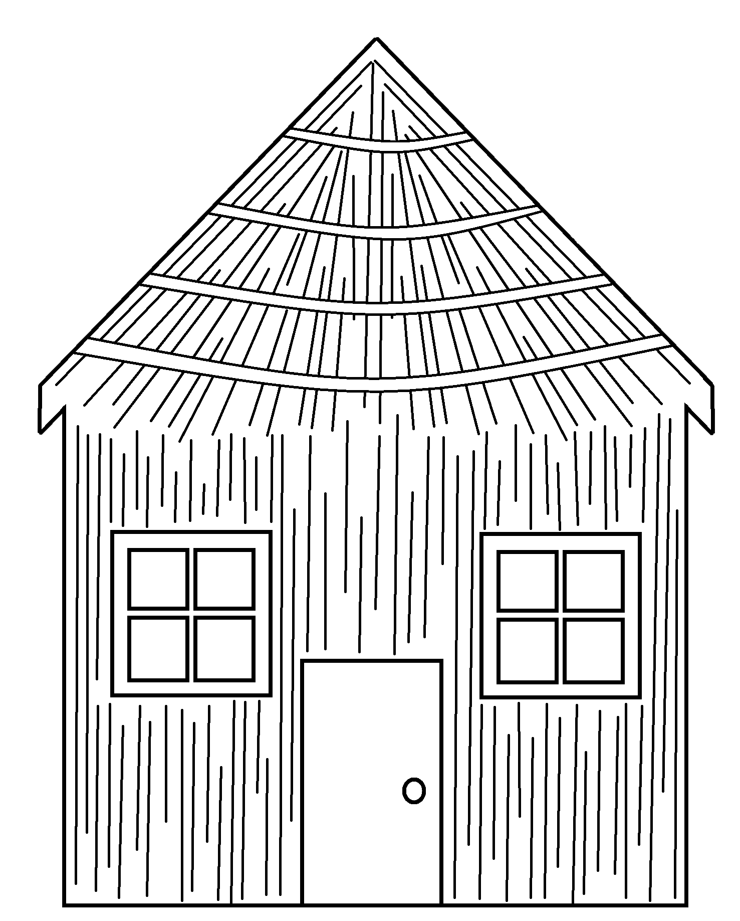 White House clipart stick house Cliparts Straw house Stick black