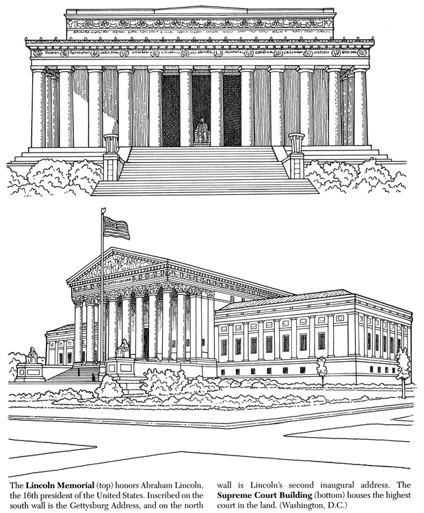 White House clipart supreme court building Building Memorial Lincoln Lincoln &