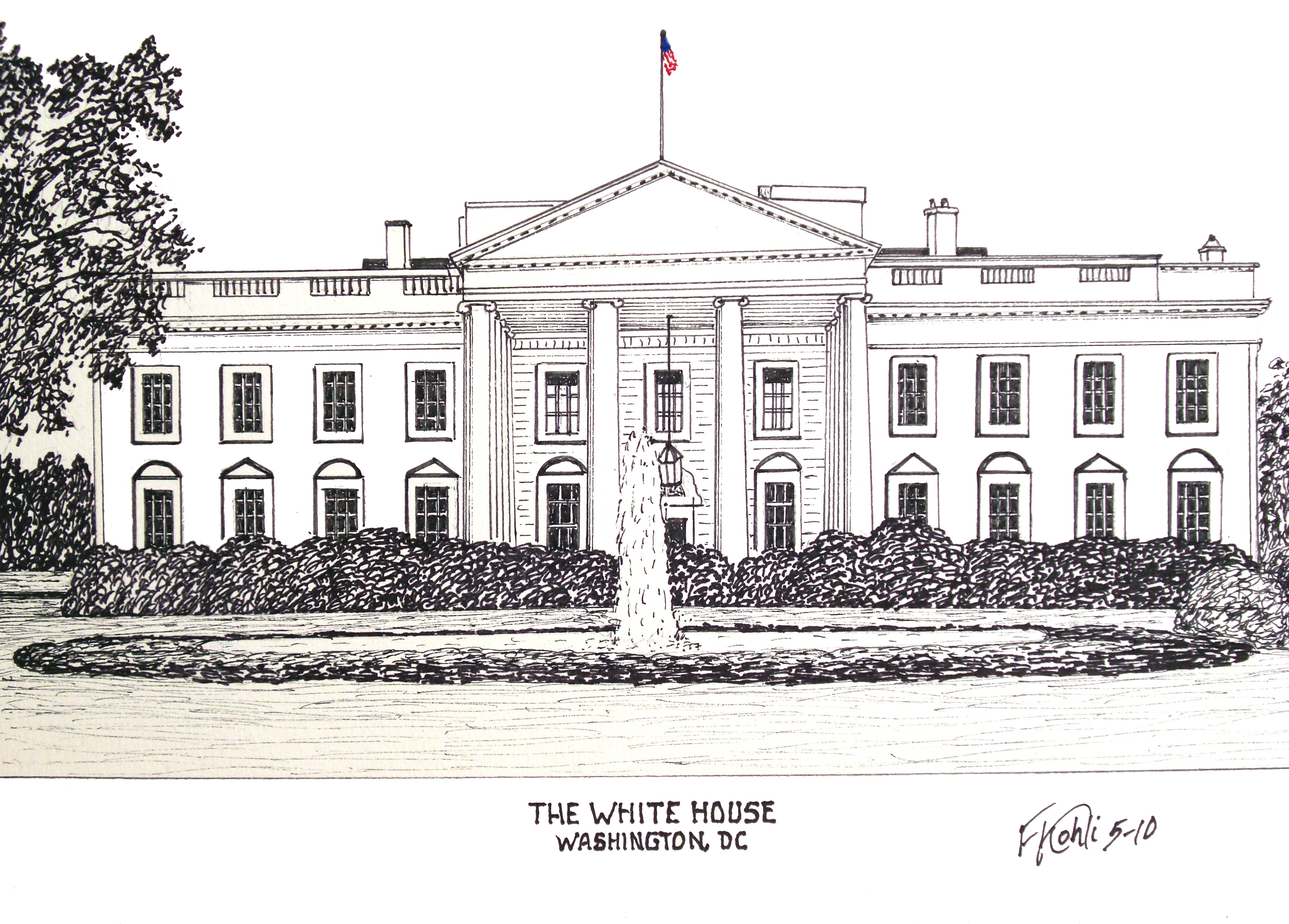 White House clipart supreme court building Ink WHITE and Kohli of
