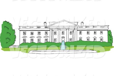 White House clipart washington dc House by vector Washington free