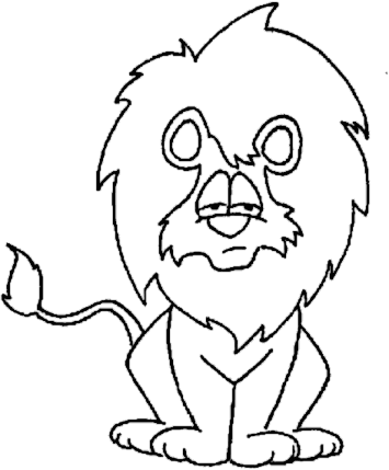 White Lion clipart Clipart Panda Black lion%20clipart%20black%20and%20white Art