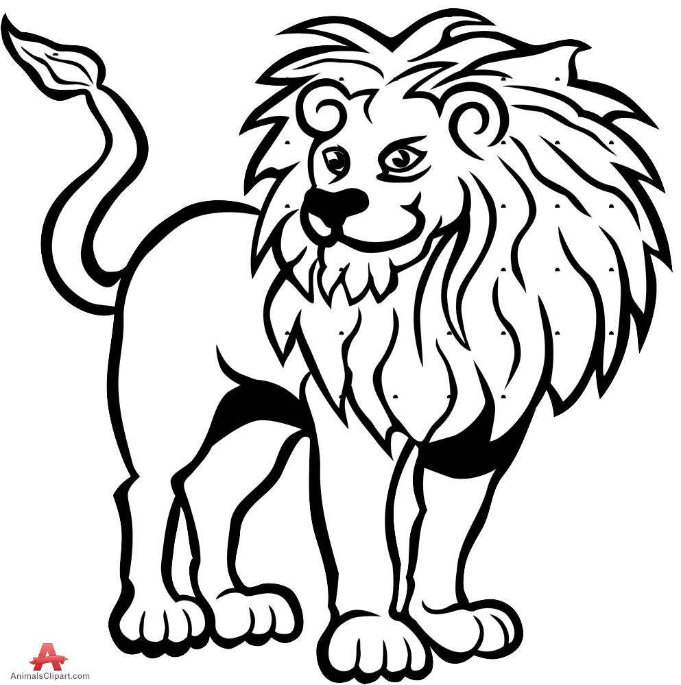 White Lion clipart Black lion download clipart and
