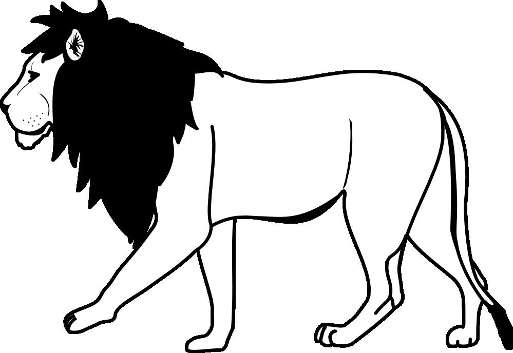 White Lion clipart Clipart Panda Black lion%20clipart%20black%20and%20white Art