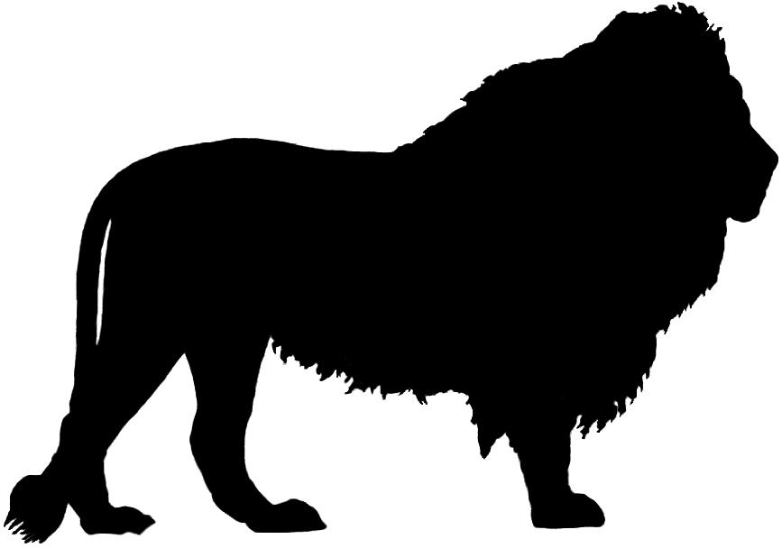 Lion clipart silhouette #15
