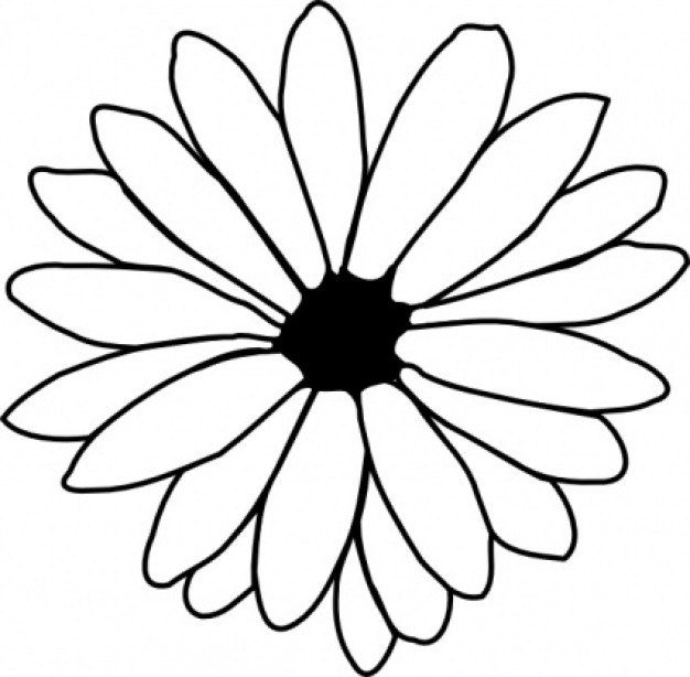 Petal clipart flower coloring ClipArt ClipArt flower flower Best