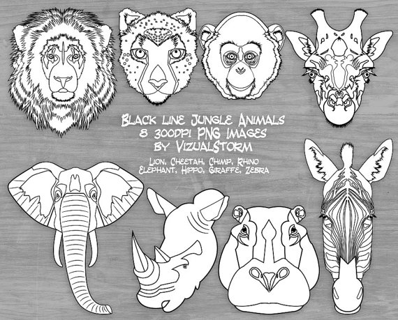 Drawn rhino jungle animal Hippo Animals Animal Faces Jungle