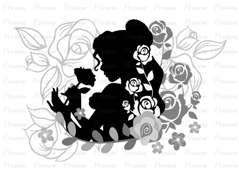 White Rose clipart beauty Digital Beast Princess the Stamp