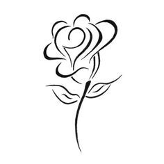 White Rose clipart beauty Tattoo A White Of black