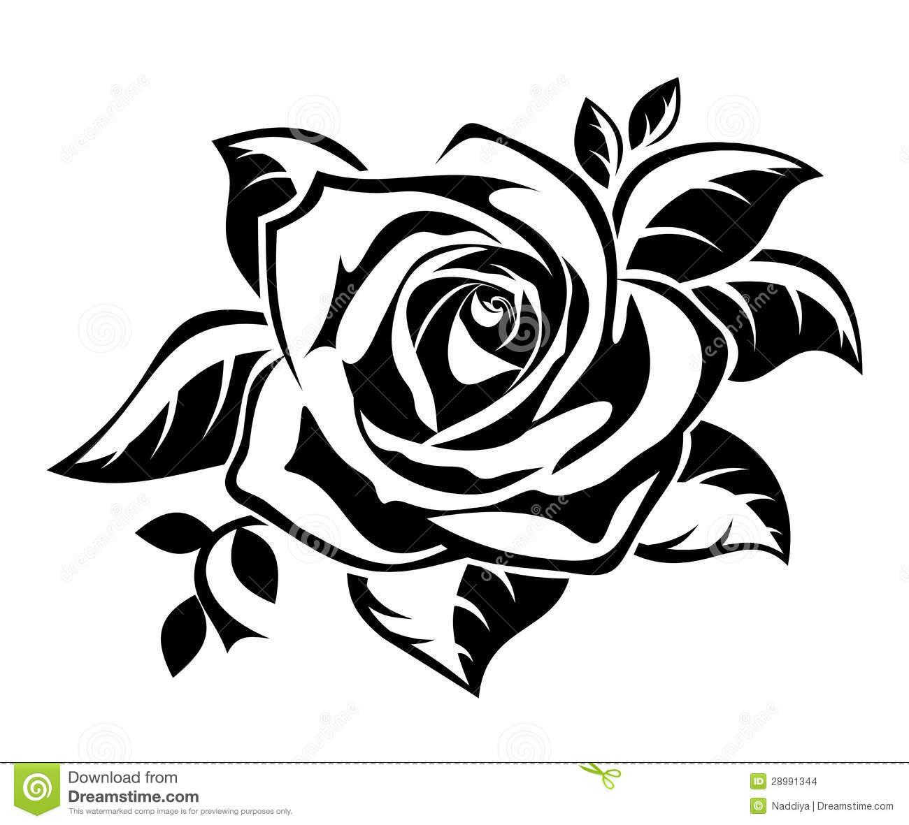 White clipart roseblack Rose black White and Black